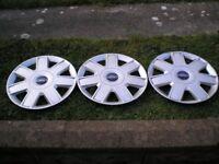 3 Ford KA wheel covers