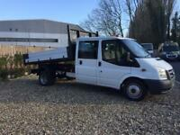 2008-58-reg ford transit 350-115ps crew cab tipper only 74,000 Miles FREE UK DELIVERY