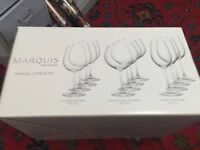WINE GLASSES - MARQUIS WATERFORD SET OF 12 (3 SETS OF 4) £20