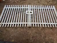 yard gates (GALVANIZED) overall width 13FT-8INCH