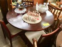 Mahogany Table/ 4 Chairs. CHRISTCHURCH