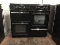 Leisure range dual fuel gas cooker 100cm FSD black double oven 3 months warranty free local delivery