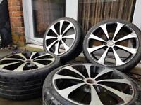 17 MULTIFIT ALLOY WHEELS WITH TYRES RENAULT CLIO HONDA TOYOTA FORD ETC
