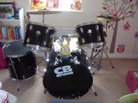 Excellent condition complete CB drum kit, perfect for beginners