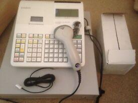 Casio SE-S300 cash register + voyager scanner + 19 till rolls
