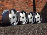 Borbet A deep dish alloy wheels, 4x100, 16inch, Vw Golf MK 2 3, Caddy