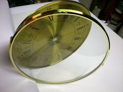 CASE OF 5 Bezel Glass Brass Clock Dial Size 8 Dia.Hinged Convex Glass Door Dial