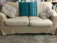 2 seater Ikea sofa beige fair condition