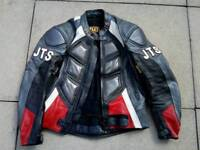 Mens JTS leather Motorcycle jacket