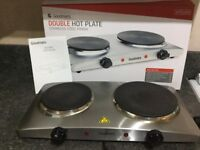 GOODMAN'S STAINLESS-STEEL DOUBLE HOT PLATE.