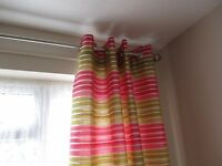 ONE PAIR OF NEXT EYELET LINED CURTAINS 46 X 72 DROP