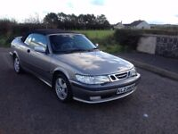 Saab 93 9-3 2.0 TURBO Convertible Cabriolet Soft Top MOT'D + FULL LEATHER INTERIOR
