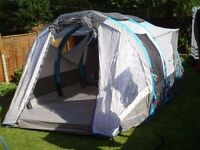 6 berth inflatable tent with pump