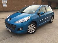 For sale 2012 Peugeot 207 manual 1.4 5door very low mileage.