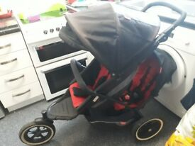 Phil and ted double buggy with accessories..