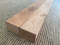 2 Lengths of Oak. 3 x 2 Planed Smooth Air Dried Oak