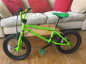 Kids bike for sale. Mongoose Program 16 BMX Lime Green. Used, but great condition.