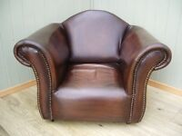 Stunning Leather Brown Childs Chesterfield Club Chair