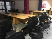 Office furniture desks and chairs from clearance