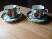 A pair of German designed coffee/tea cups