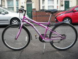 "Apollo Siren 16"" frame 15 gear bike for teenager or small adult, recently serviced, nice ride"