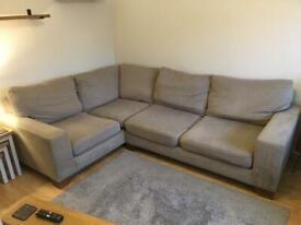 Corner sofa and loveseat