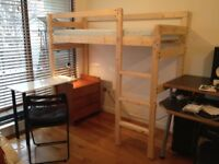 Wooden Bunkbed single, self assembly