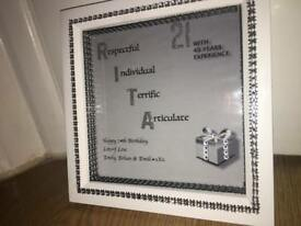 Personalised birthday frames