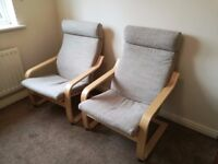 Ikea Armchairs in Excellent Condition
