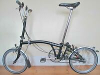 Brompton Folding Bike With Accessories In Excellent Condition
