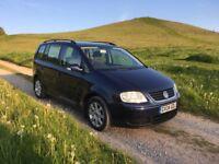 VW TOURAN 7 Seater 1.9tdi SE 2004, 79000 miles, 11 Months MOT