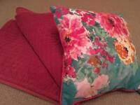 Christy throw, matching blind and cushion