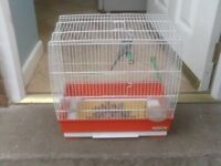 BIRD CAGE WITH FOOD POT AND PERCHES £10
