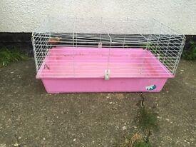 Indoor rabbit/ Guinea pig hutch PINK