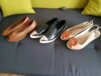 3 pairs of used shoes size 7