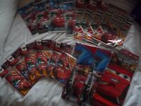 Huge bundle of 'Cars' party stuff, table cloths, invites, party bags