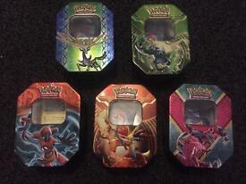 Pokemon tin with 50 cards