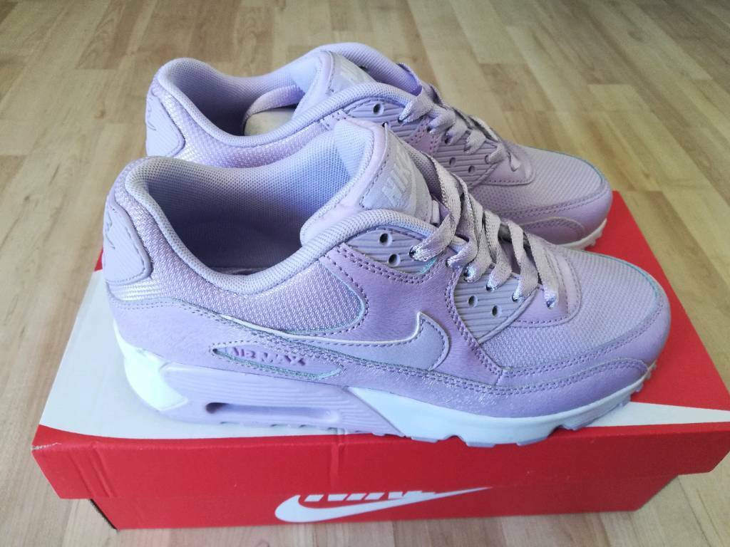 buy popular 129a0 d6e81 Nike air max 90 trainers SE Mesh GS Youth UK 5 violet mist