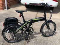 1 folding Carrera cross city electric bike. One sold