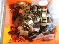 Box of small clock parts - good for crafting/steampunk