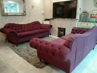Chesterfield sofa suite set