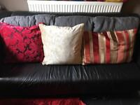 Good quality coloured cushions