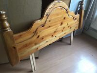 Stylish Solid wood headboard suitable for any double or queen size bed 168 cms in very good