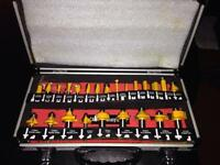 JCB 24 piece router bit set
