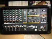 Yamaha EMX660 powered mixer amp