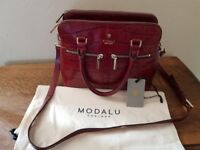 MODALU designer red handbag