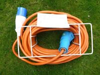 Hook up lead 240v Caravan/motorhome hook up cable lead aprox 75 foot //22mtr with keep