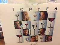 Set of 6 Schott Zwiesel Top Ten (130) Kräftige Rotweine (Full Bodied Red Wine) Glasses