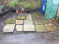 Reclaimed yorkstone flags - catherdral grade- approx 3sqm- pick up only