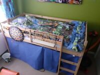Child's tent bed with mattress